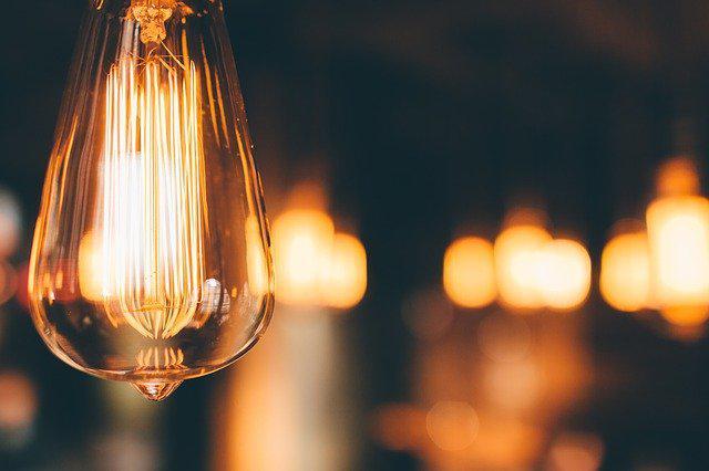 A focused light bulb