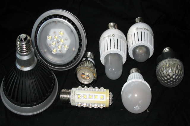 Display of different lights